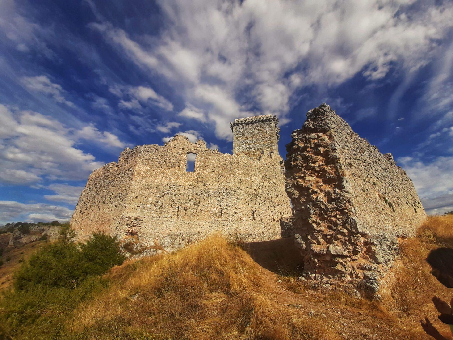 Vista de las ruinas del Castillo de Ucero